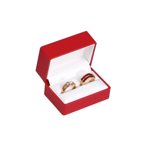 Fancy Double Ring Box with Ribbon,Choose from various Color