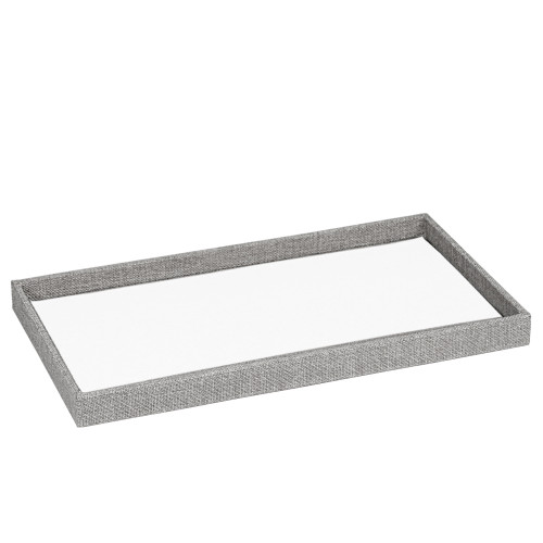 "1"" inch Full Size Linen Wood Tray,14 3/4"" x 8 1/4"" x 1""H(Choose from various Color)"