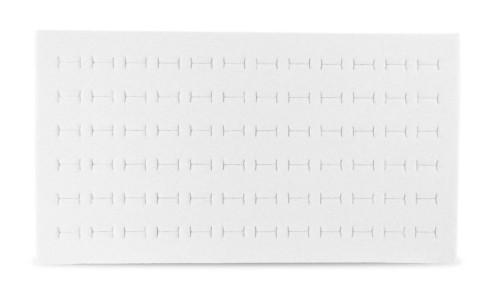 Foam 72-Ring Tray Insert Standard Size White