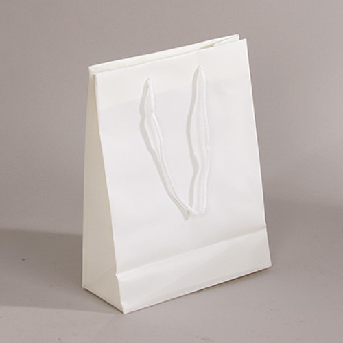 "CLOSEOUT-Off White Frosted Plastic Tote(4.5x2.75x6.5"")"