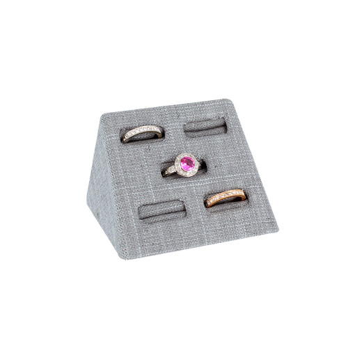 """5 Ring Display, Linen,3.75x2.5x2.4""""H, (Choose from various Color)"""