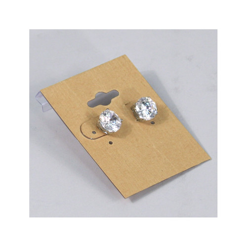 "Earring Card,Kraft , 1 1/2"" x 2""H"