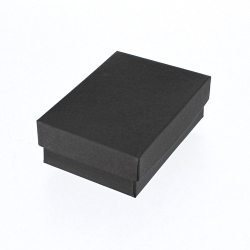 Cotton Filled Box, Matte Black(Choose from various sizes) , PRICE FOR 100 PCS