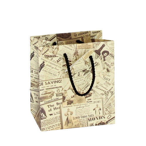 Newsprint Tote Gift Bag (Choose from various sizes),Price for 20 Pieces