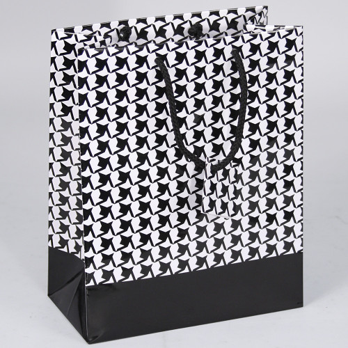 Houndstooth Style Tote Gift Bag (Choose from various sizes),Price for 20 Pieces