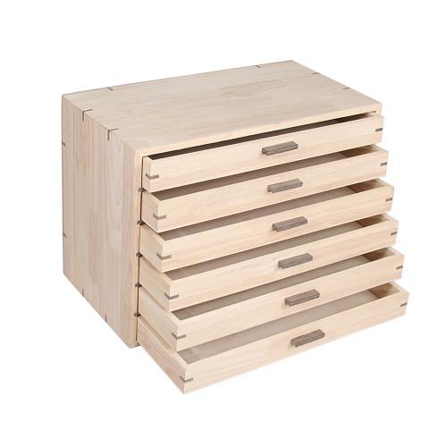 "Natural Wood Organizer Case, 16"" x 9"" x 11 3/4""H"