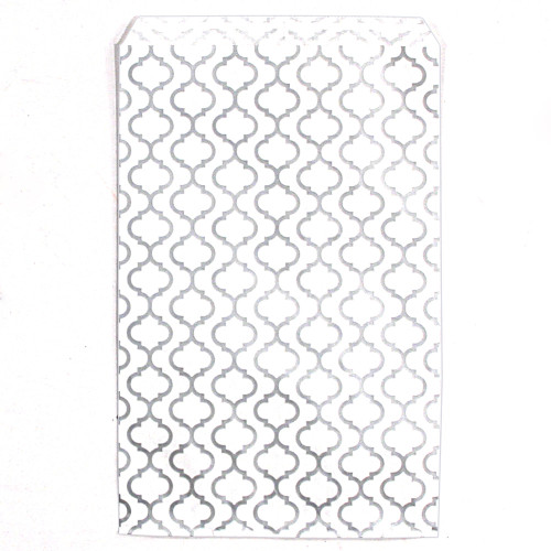 paper gift bag (Trilles-Silver),(Choose from various sizes),Price for 100 Pieces.