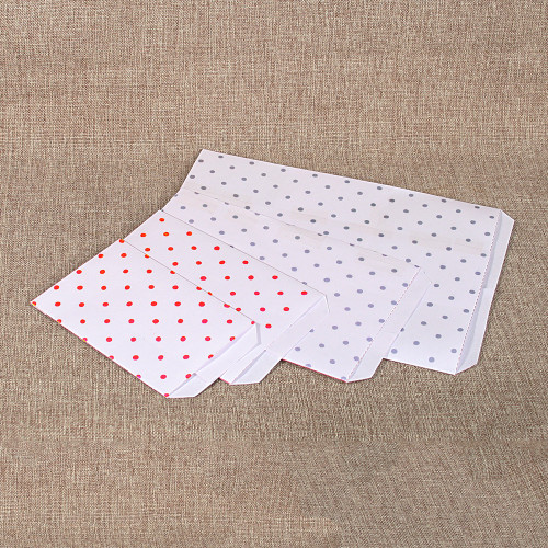 Paper gift bag (Polka-Dot)-Red,(Choose from various sizes),Price for 100 Pieces.