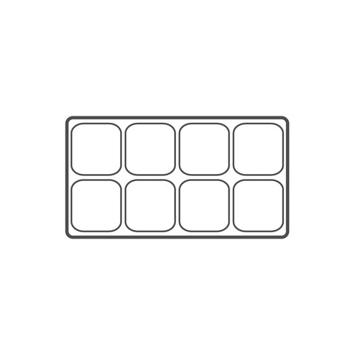 """8-compartment Durable plastic tray Insert, 14 1/8""""x 7 5/8""""x 1 3/8""""H,(Choose from various Color)"""