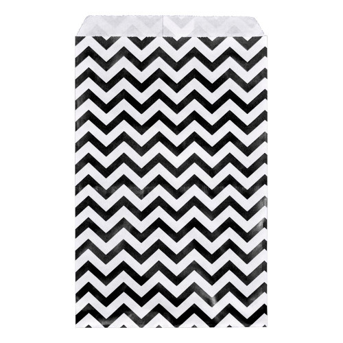 Paper gift bag , Chevron, Black,(Choose from various sizes),Price for 100 Pieces.