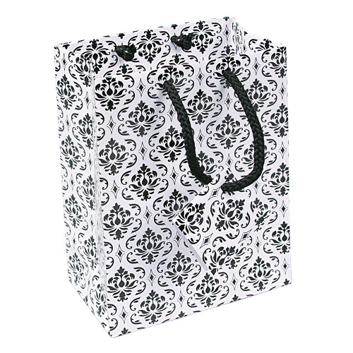 Tote Gift Bag , Damask Glossy,(Choose from various sizes),Price for 20 pieces
