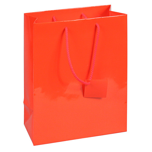 Tote Gift Bag , Red Glossy, (Choose from various sizes),Price for 20 pieces