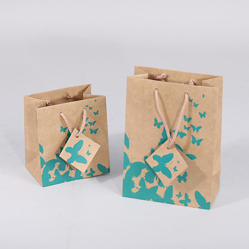 Kraft Green Butterfly Tote Bags,(Choose from various sizes),Price for 20 pieces