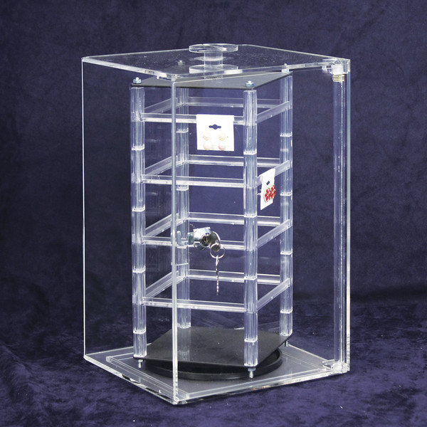 """Revolving Rotating Earring Display Jewelry Counter Top with 100 2/"""" Cards"""