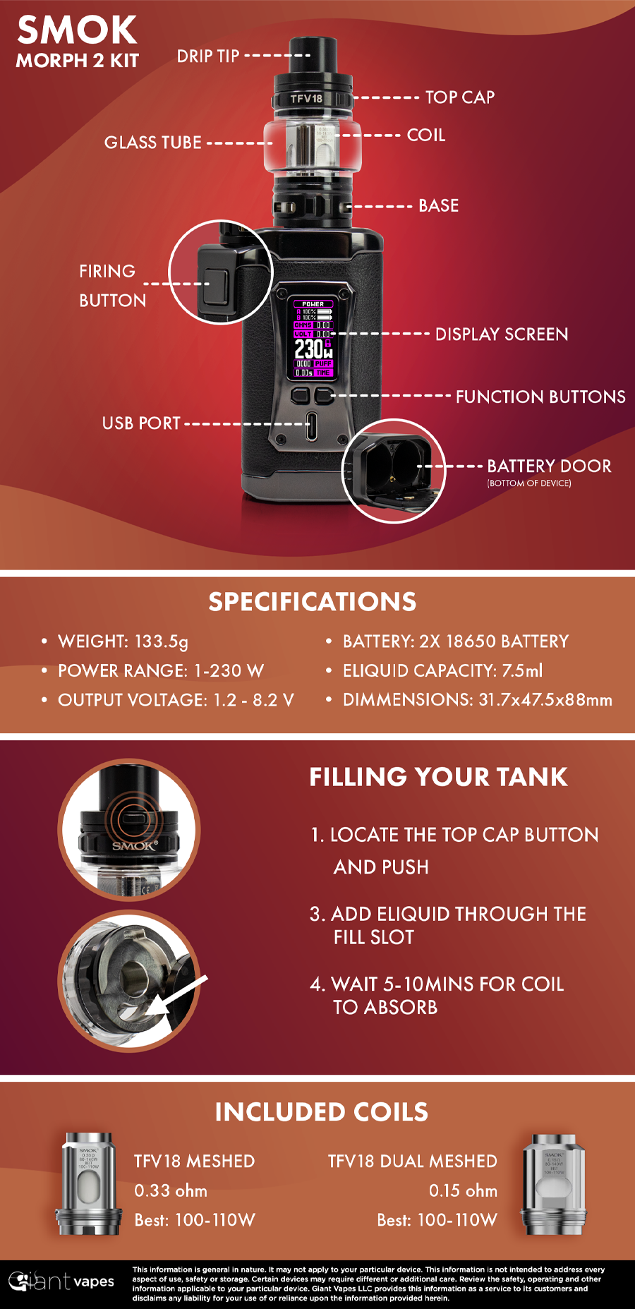SMOK Morph 2 Kit Infographic