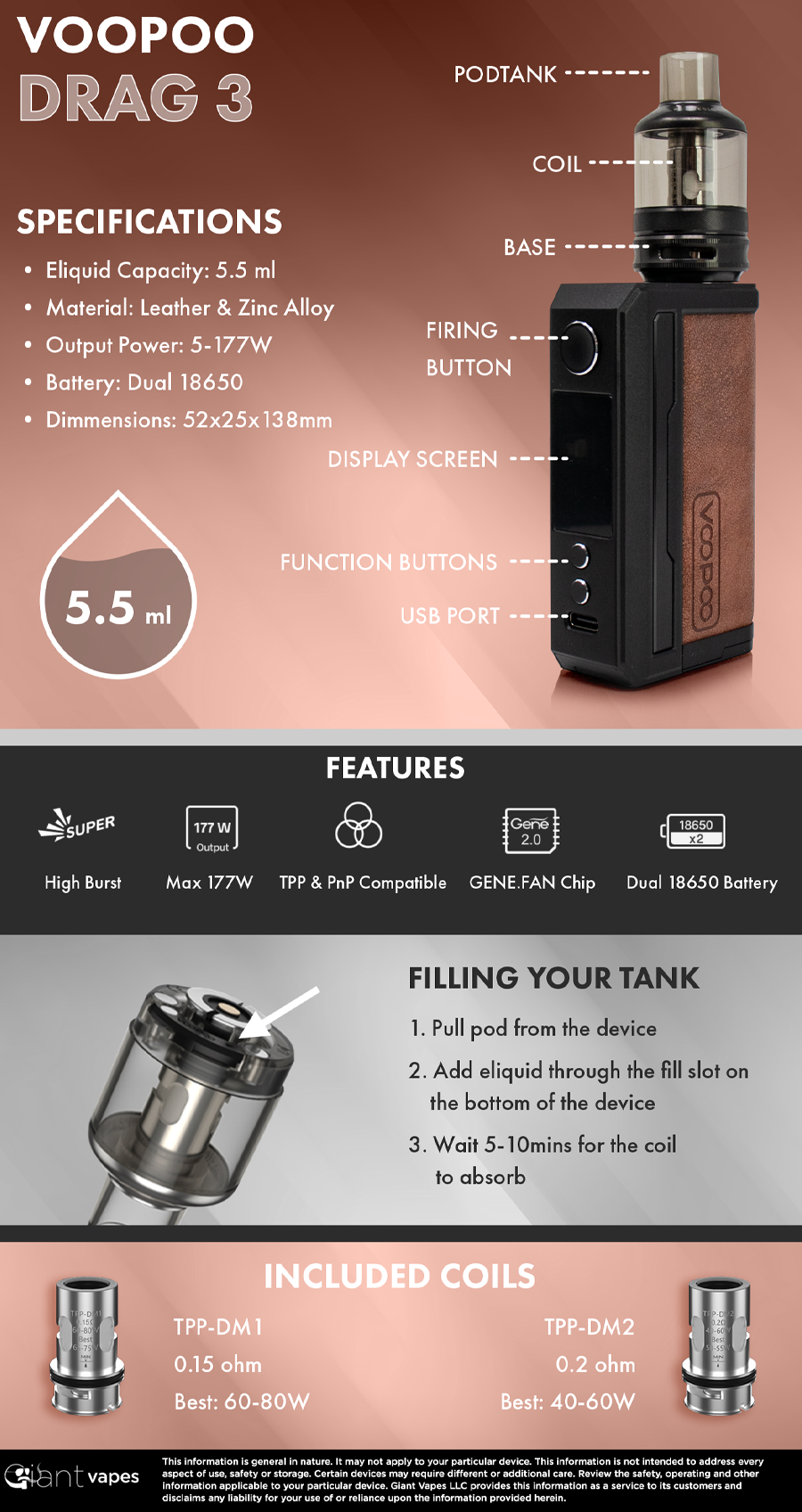 VOOPOO Drag 3 Kit Infographic