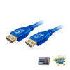 MicroFlex Pro AV/IT Certified 4K60 18G High Speed HDMI Cable with ProGrip Cool Blue 9ft