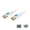 MicroFlex Pro AV/IT Certified 4K60 18G High Speed HDMI Cable with ProGrip White 9ft