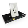 Pro AV/IT HDBaseT 4K Single Gang HDMI + USB-C, USB 2.0 and Audio Wall Plate Extender Kit up to 230ft