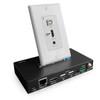 Pro AV/IT HDBaseT 4K 18G Single Gang HDMI, USB 2.0 and Audio Wall Plate Extender Kit up to 230ft