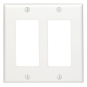 Double Gang White Decora Wall Plate Cover