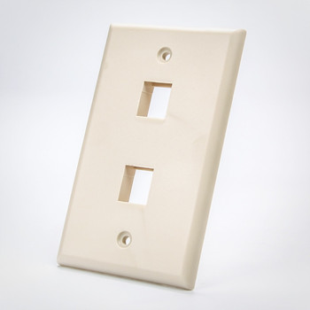 Keystone 2 Port Face Plate Beige