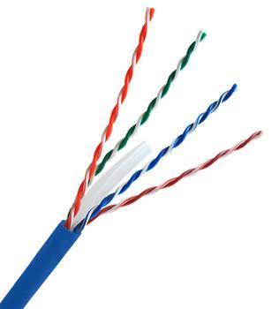 Cat 5e 350MHz Solid Blue Bulk Cable 1000ft