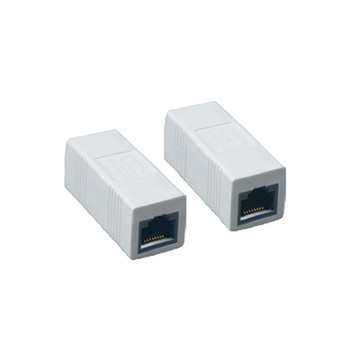 Inline Coupler CAT5E Jack to Jack White