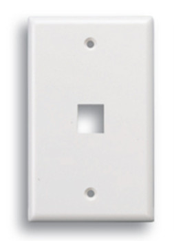 Keystone 1 Port Face Plate White