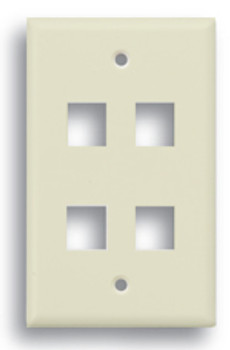 Keystone 4 Port Face Plate Beige