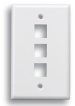 Keystone 3 Port Face Plate White