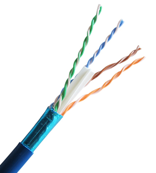 Cat 6 550 MHz Shielded Stranded Blue Bulk Cable 1000ft