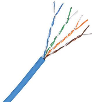 Cat 6 550 MHz UTP Stranded Blue Bulk Cable 1000ft