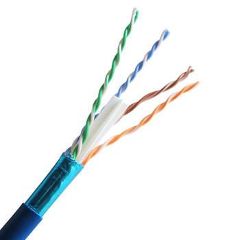 Cat 6 550 MHz Shielded Plenum Solid Blue Bulk Cable 1000ft Reel