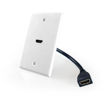 HDMI Wallplate 1 Port Pigtail