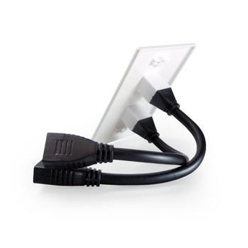 HDMI Wallplate 2 Port Pigtail