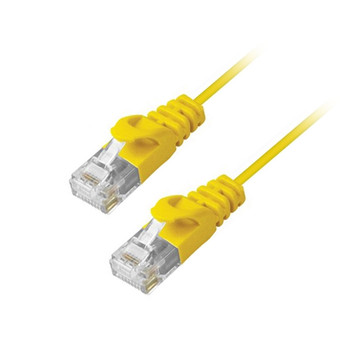 MicroFlex Pro AV/IT CAT6 Snagless Patch Cable Yellow 1ft