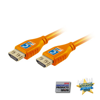 MicroFlex Pro AV/IT Certified 4K60 18G High Speed HDMI Cable with ProGrip Orange 9ft