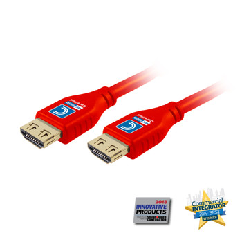 MicroFlex Pro AV/IT Series 4K60 18G High Speed Active HDMI Cable with ProGrip Red 15ft
