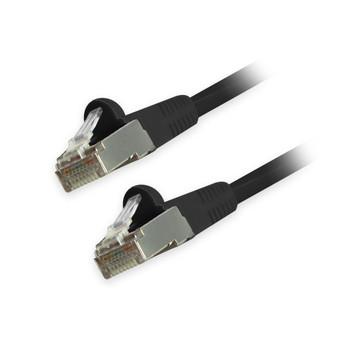 Cat6 Snagless Shielded Ethernet Cables, Black, 1ft