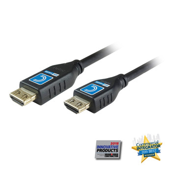 MicroFlex Active Pro AV/IT 18G Extended Length HDMI Cables with ProGrip, CL3, Jet Black 35ft