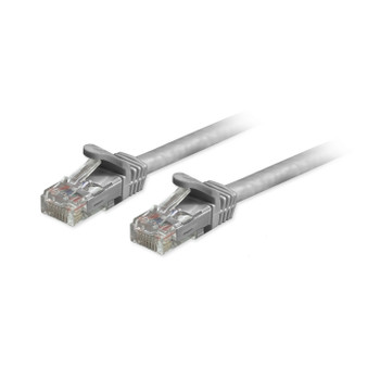 Cat6a Unshielded (UTP) Snagless Ethernet Patch Cable Grey 1ft