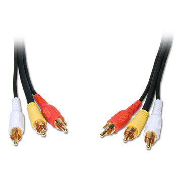 Standard Series General Purpose 3 RCA Video Cable 6ft