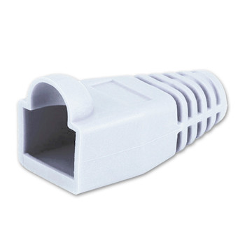 White RJ45 Colored Boot