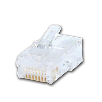 RJ45 Male Computer Connector 30u gold flash