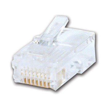 RJ45 Cat 6 Male Connector 50u gold plated