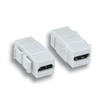 Keystone Jack Feedthrough Module HDMI Inline Coupler, White