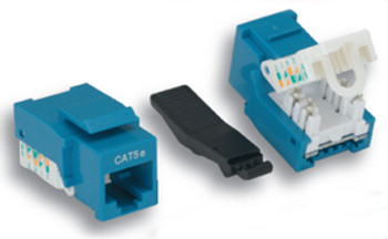 CAT5e Tooless Keystone Jack Blue