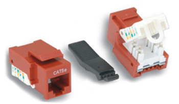 CAT5e Tooless Keystone Jack Red