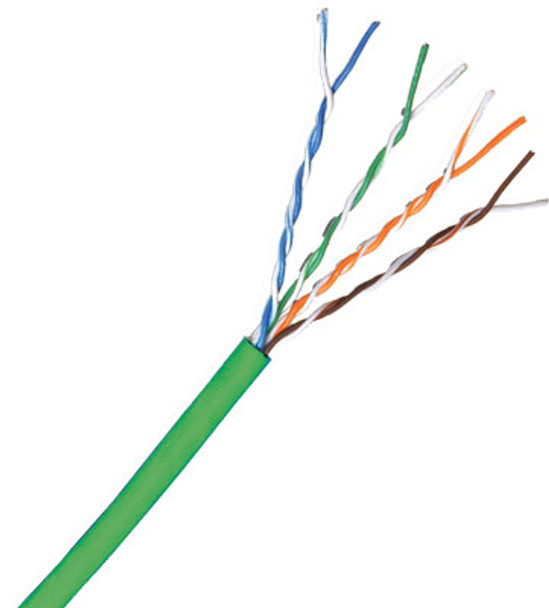 Cat 5e 350MHz Solid Green Bulk Cable 1000ft